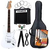 Rocktile Banger's Pack Set Guitare Électrique, 7 Pièces Blanc