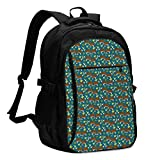 XCNGG Mochila USB con múltiples Bolsillos, Mochila Informal, Mochila Escolar Hereford Cow Fabric Cattle and Cactus Towels Unisex Travel Laptop Backpack with USB Charging Port School Anti-Theft Bag