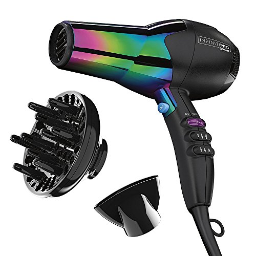 Infinitipro By Conair 1875W Ion Choice Hair Dryer, Rainbow Finish, Rainbow Chrome Finish, Full Size