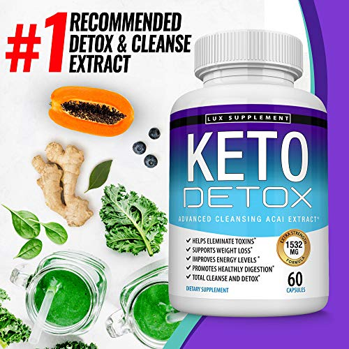 Keto Detox Pills Advanced Cleansing Extract – 1532 Mg Natural Acai Colon Cleanser Formula Using Ketosis & Ketogenic Diet, Flush Toxins & Excess Waste, for Men Women, 60 Capsules, Toplux Supplement 2 - My Weight Loss Today