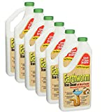 Earthworm Drain Cleaner - Drain Deodorizer - Natural and Safer for Families - Six (6) 32 oz Bottles