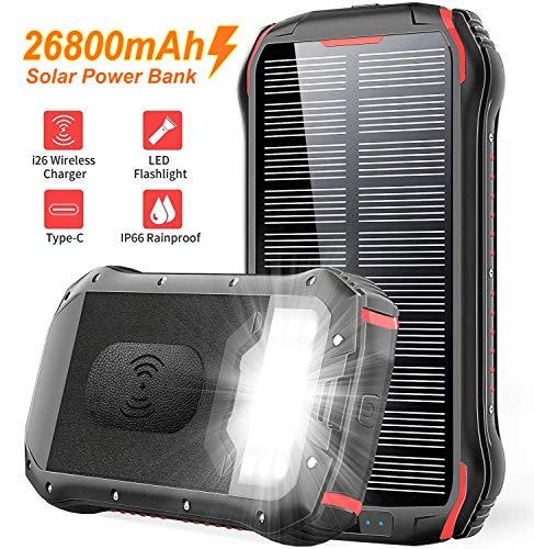 Slols PowerBank Solare 26800mAh, Caricatore...