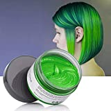 Hair Color Wax Wash Out Hair Color Instant Hair Wax Temporary Hairstyle Cream 4.23 oz Cyan Green Hair Pomades Natural Hairstyle Wax for Men and Women (Cyan)