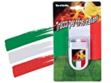 Alsino Make-up Stick Bandiera Italia Trucco Tricolore Calcio Nazionale Estate Europei Mondiali Azzurri Carnevale Halloween Olimpiadi (00/0608)