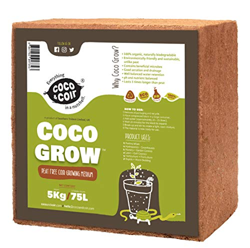 Coco & Coir Everything in a nutshell Coco Grow, Marrón, 5 kg (el embalaje puede variar)