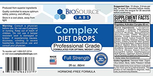 BioSource Labs Complex Diet Drops – Best Natural Weight Management Drops for Men and Women (1 x 2-Ounce Bottle) 9