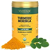 VAHDAM, Orgánico Cúrcuma + Moringa Latte, 40 Tazas (100g)...