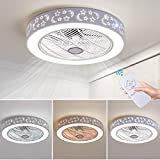 72W LED Ceiling Fans Modern Ceiling Light with Fan Remote Control Indoor Lighting LED Nordic Fan Light Invisible Ceiling Fan Restaurant Children's Room Bedroom Living Room