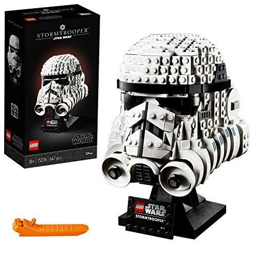 LEGO Star Wars - Casco de Soldado de Asalto, Set de Construcción Coleccionable de Figura de Casco de Stormtrooper de la Guerra de las Galaxias(75276)