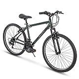 Huffy Hardtail Mountain Trail Bike 24 inch, 26 inch, 27.5 inch, 26 Inch Wheels/17 Inch Frame, Military Green Gloss