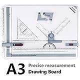 A3 Planche à Dessin, Preciva Drawing Board Metric System 51 x 36.5 cm...