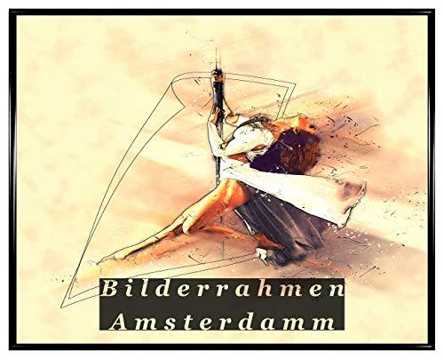 Homedecoration Amsterdam - Cornice portafoto in plastica Nera Opaca con Vetro Sintetico, 1 mm,...
