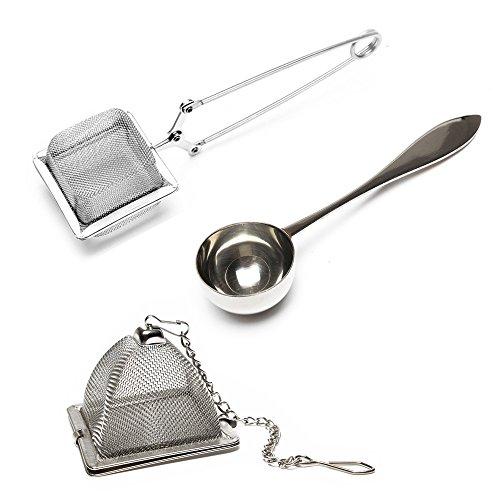 VAHDAM, Juego de 2 infusores y 1 cuchara de té - Acero inoxidable, filtro de té, colador de té,...
