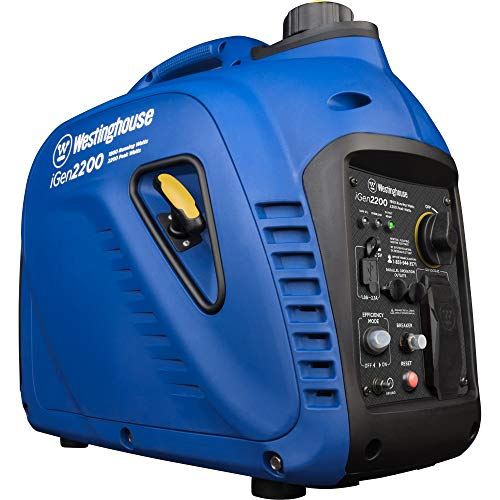 Westinghouse iGen2200 Super Quiet Portable Inverter Generator 1800 Rated & 2200 Peak Watts, Gas Powered, CARB Compliant
