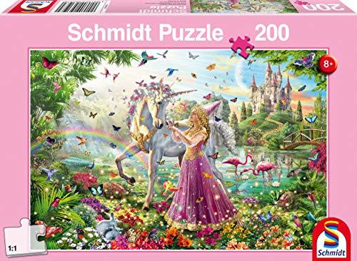 Schmidt- Puzzle Fata nel Bosco Incantato 200 Pezzi, 56197