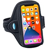 Tune Belt AB91 Cell Phone Armband Holder Case for iPhone 13/13 Pro, 12/12 Pro, 11, 11 Pro Max, XS Max, XR, Galaxy S20/S21 Plus & More for Running & Working Out (Black)