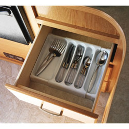 Camco Adjustable Cutlery Tray - Designed for RV and Compact...