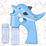 Lovelion Dolphin Bubble Gun Blower with LED Light with Music Suitable for Girls and Boys Over 1.2.3 Years Oldc