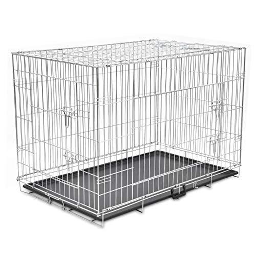 vidaXL Cage Métallique Pliable Chiens XXL Jardin Caisse Enclos Cage d'animaux