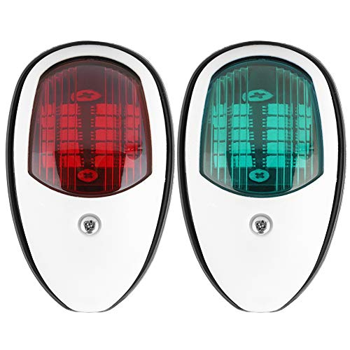 KIMISS 1 Paar rote und grüne Navigationsleuchten DC12V LED Signallampe Navigationslicht PC für Bootszubehör