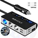 OOWOLF Allume Cigare USB, Allume Cigare Voiture, Allume Cigare QC3.0 Charge...