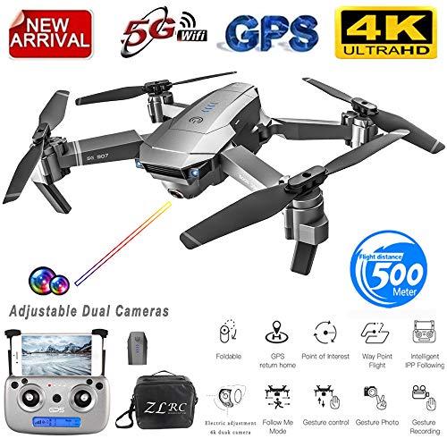 ETbotu Pieghevole Drone, Drone SG907 GPS con fotocamera 4K 5G Wifi RC Quadcopter flusso ottico Mini Dron 1080P HD Drone pieghevole Batteria 4K 1