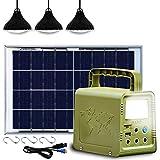 ECO-WORTHY 84 Wh Panneau solaire portable Kit complet Générateur d'éclairage avec Panneau...