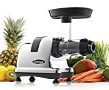 Omega Juice Extractor and Nutrition System Quiet Motor Slow Masticating Dual-Stage Extraction with Adjustable Settings, 200-Watt, Metallic