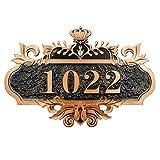 Numéro de Maison Personnalisé Numéros de Porte Custom Signe Plaque en Acrylic Autocollant Enseigne d'adresse Flottant Gravé Panneau de Signe Vintage pour Famille Bureau Hôtel Dortoir