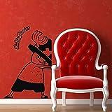 Personaje de dibujos animados vinilo etiqueta de la pared baño decoración de la pared del hogar calcomanía de pared letras