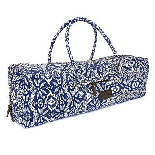 Kindfolk Yoga Mat Duffle Bag Patterned Canvas with Pocket...