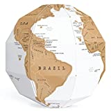 Exerz EX-SCGL20 Globe à Gratter (Diamètre: 20 cm)/ Scratchable Globe - Une Combinaison Unique de Bricolage et de...