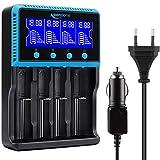 18650 Chargeur Batterie, Keenstone Chargeur de Piles Rechargeable Universel avec...