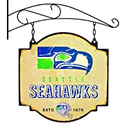 OFFICIALLY LICENSED: Winning Streak Sports NFL Banners are officially licensed by the NFL. SEATTLE SEAHAWKS: Vintage inspired Seahawks tavern sign to proudly celebrate the Seattle Seahawks in your home. Perfect wall decor keepsake for the sports room...