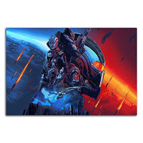 Trelemek Mass Effect Legendary Edition Kunstwerk Gemälde 45,7 x 30,5 cm Videospiel Poster Kunstdrucke für Jungen und Mädchen Schlafzimmer ungerahmt / rahmenbar