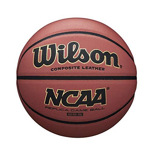 Wilson, Pallone da basket, NCAA Replica Comp, Arancione, Pelle sintetica, Misura 7, Uso all'interno e all'esterno, WTB0730