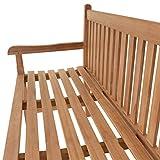 Divero 3-Sitzer Bank Holzbank Gartenbank Sitzbank zertifiziertes Teak-Holz behandelt hochwertig massiv - 3