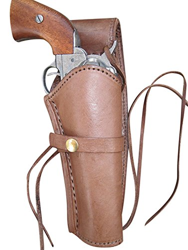 Western Express Leather Gun Holster for .38 Caliber and .357 Caliber Revolvers (Right Handed) Smooth Brown