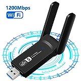 Aigital Clé WiFi AC 1200 Mbps, Adaptateur USB WiFi, dongle WiFi Double Bande,...