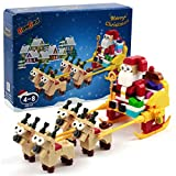 BanBao Building Block Toy, Christmas Suit Santa Claus Gift Box Reindeer Snow Car Building Toy Set...