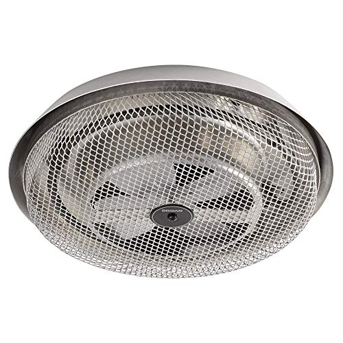 Broan-NuTone 157 Low-Profile Fan-Forced Ceiling Heater, Enclosed Sheath Element for Bathroom, Kitchen, and Home, Standard, Satin Aluminum