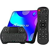Android TV Box 11, 4GB RAM 32GB ROM Android 11 Compatible con 4K 3D, RK3318 Dual-WiFi 2.4g / 5g Smart TV Box con Mini Teclado
