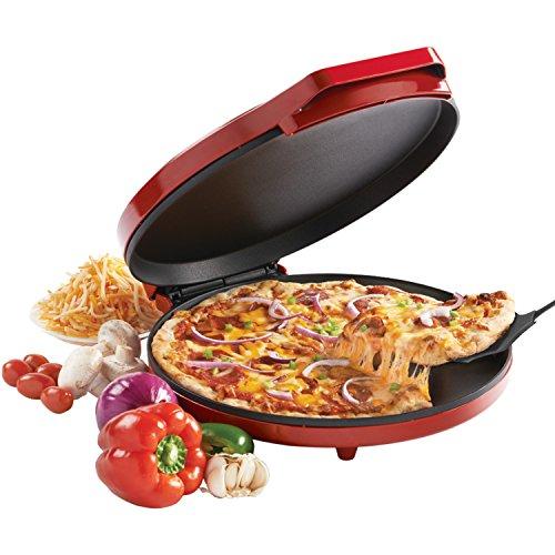 Betty Crocker BC-2958CR Pizza Maker, 1440 Watts, Red, 2.3, Metal