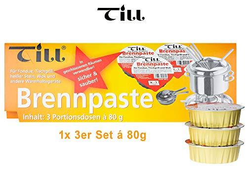 Till Fondue Gel 3 x 80g pots per pack