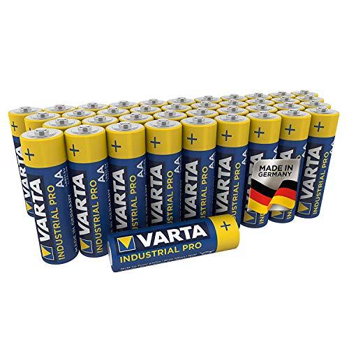 Varta Industrial Batterie (AA Mignon Alkaline Batterien LR6, umweltschonende Verpackung, 40er Pack)
