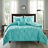 Madison Park Essentials Kasey Comforter (Set), Full/Queen, Aqua