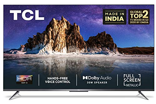 TCL 126 cm (50 inches) AI 4K Ultra HD Certified Android Smart LED TV 50P715 (Sliver) (2020 Model)