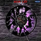 fdgdfgd Classic CD Record Basketball Slam Dunk LED Reloj de Vinilo Retro Decoración de Regalo | Sorpresa Antes de Navidad