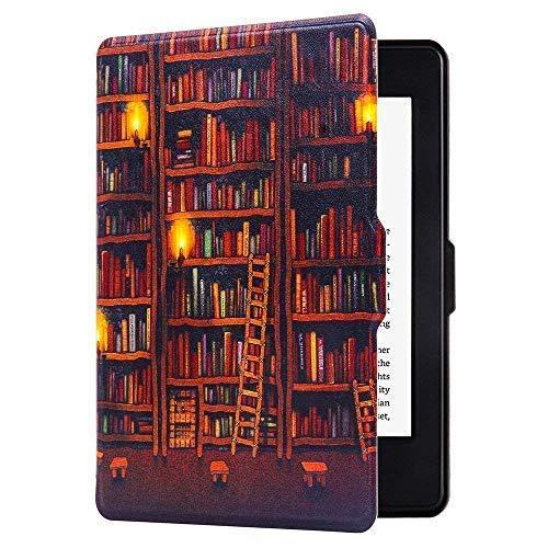 Huasiru Pittura Custodia Copertura per Kindle Paperwhite - NON adatta per il modello 2018 (10ª generazione), Biblioteca