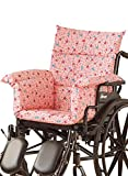 AmeriMark Chair Cushion Pad Seat Cover for Wheelchair, Transport Chair or Electric Scooter Pink Floral One Size